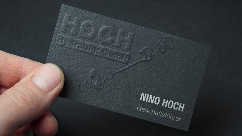 Hoch-Hydraulik-Visitenkarte-Referenz-alibi-design