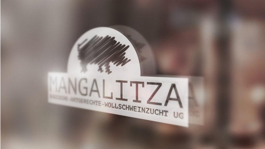 Mangalitza Wollschweinzucht Logodesign Referenzen alibi-design